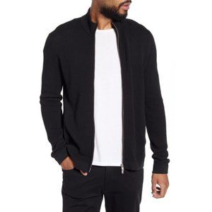 Theory Udeval Breach Full Zip Cardigan Black
